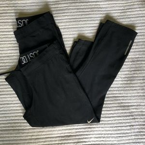 Two pairs of Nike Dri-fit Yoga Pants